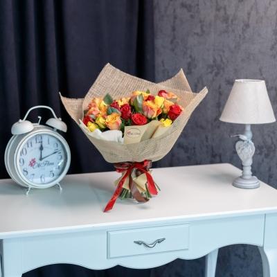 35 Trandafiri Mix Orange 30-40 cm