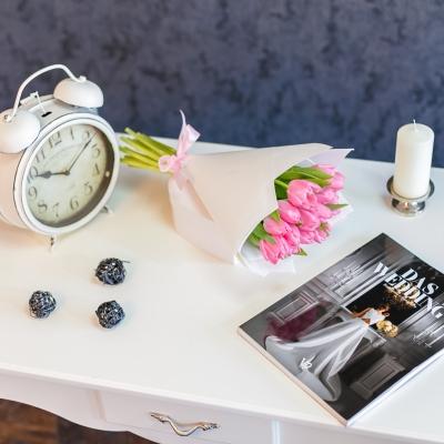 Buchet special Nr 14 din 15 lalele roz