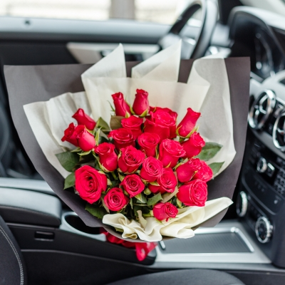25 Trandafiri Roșii 30-40 cm