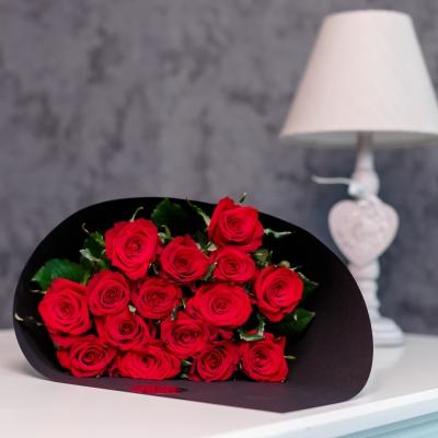 15 Trandafiri Roșii 50-60 cm