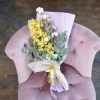 Buchet Verde din Orhidei și Bumbac