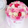 Cutie de Lux cu Trandafiri Mix Roz