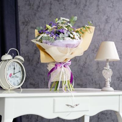 Buchet Alb-Violet