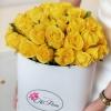 Trandafiri Galbeni în Cutie