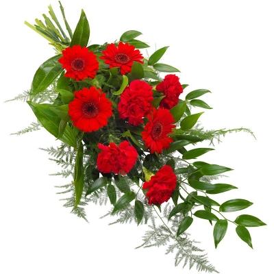 Buchet funeral în roșu