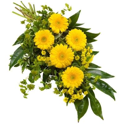 Buchet funeral în galben