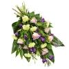Buchet în verde și violet