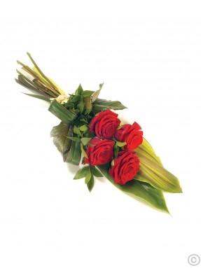 Buchet funeral roșu