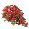Aranjament funerar elegant roșu