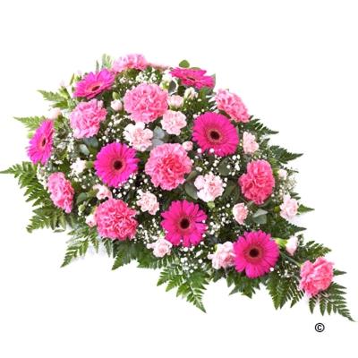 Aranjament funerar elegant roz