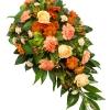 Aranjament funerar clasic orange
