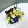 Aranjament cu Orhidei în Lădiță Mică