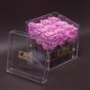 9 Trandafiri Criogenați Roz în Cutie Acrilică