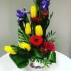 Aranjament floral în vas ceramică