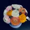 Ranunculus Multicolor în Cutie de Lux