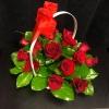 Coș cu 15 Trandafiri Roșii