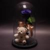 Trandafir Criogenat Mov și Ursuleț în Cupolă