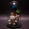 Trandafir Criogenat Turcoaz și Ursuleț în Cupolă