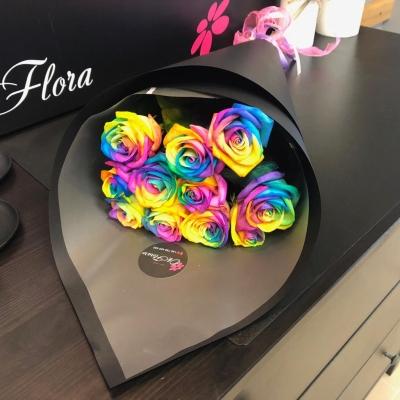Buchet cu Trandafiri Rainbow