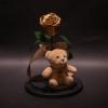 Trandafir Criogenat Golden și Ursuleț în Cupolă