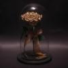 Trandafir Criogenat Bronz Mare în Cupolă