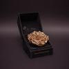 Trandafir Criogenat Bronz Mare în Cutie de Catifea