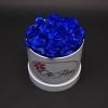 Cutie Albă cu Trandafiri Albaștri