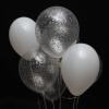 7 Baloane Alb-Transparente cu Heliu