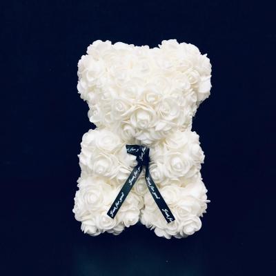 Mini Rose Bear Alb