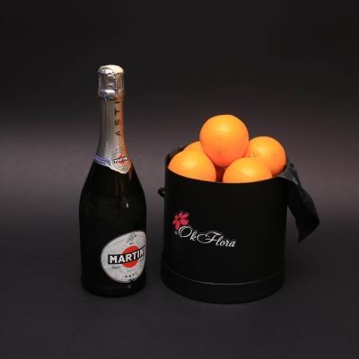 Set Cutie cu Portocale și Asti Martini