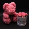 Set Rose Bear și Cutie Mică cu Trandafiri