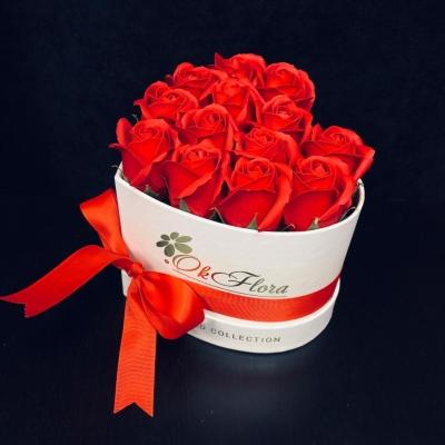 Inimă cu 15 Trandafiri de Săpun