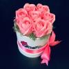 Cutie cu 7 Trandafiri de Săpun Roz