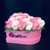 Inimă Roz cu 20 Trandafiri de Săpun