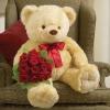 15 trandafiri rosii în Coș
