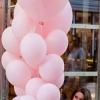 Mix din baloane roz cu heliu