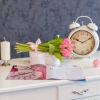 Buchet din 15 Lalele Roz