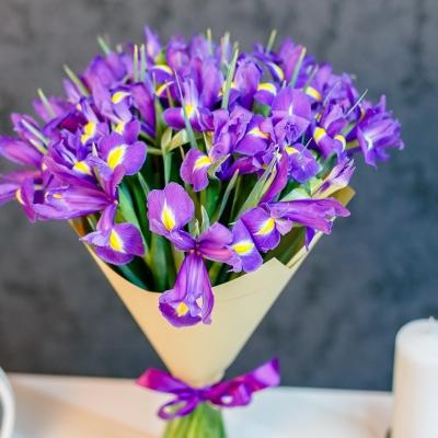 Buchet din 25 irisi in hirtie naturala